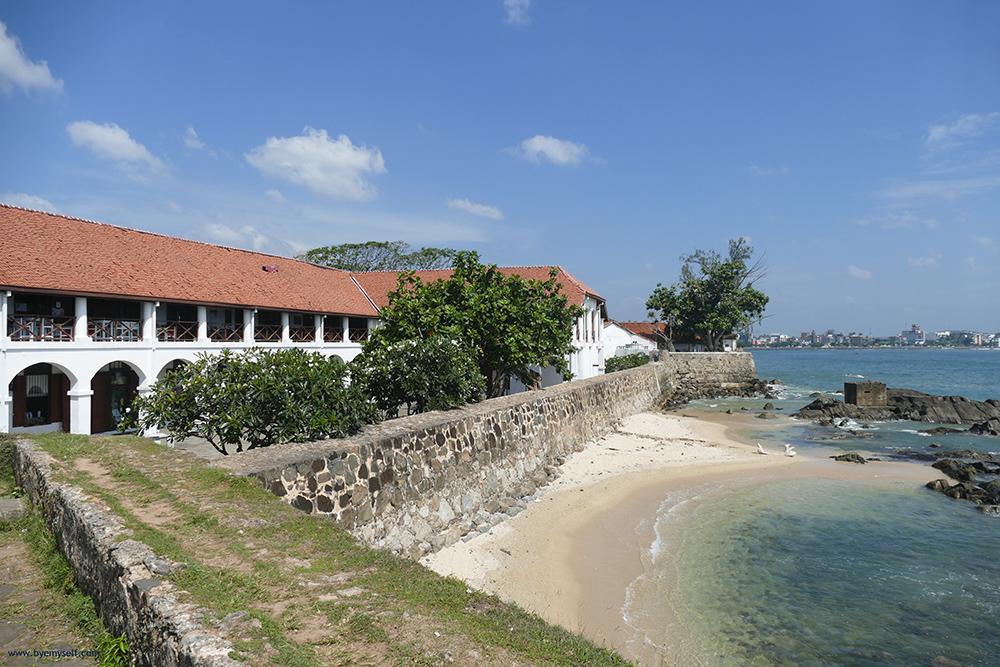 Old Dutch Hospital in Galle Fort Sri Lanka