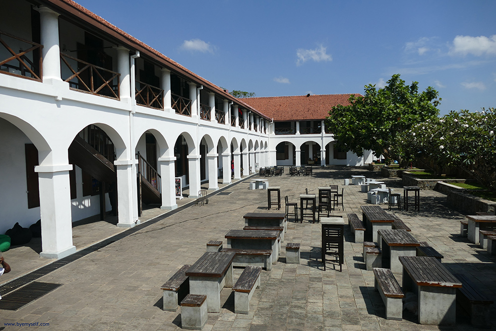 The Old Dutch Hospital in Galle Fort Sri Lanka