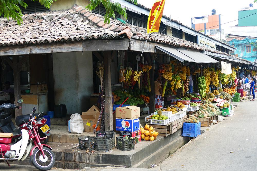 The Old Dutch farmers market in Galle Sri Lanka