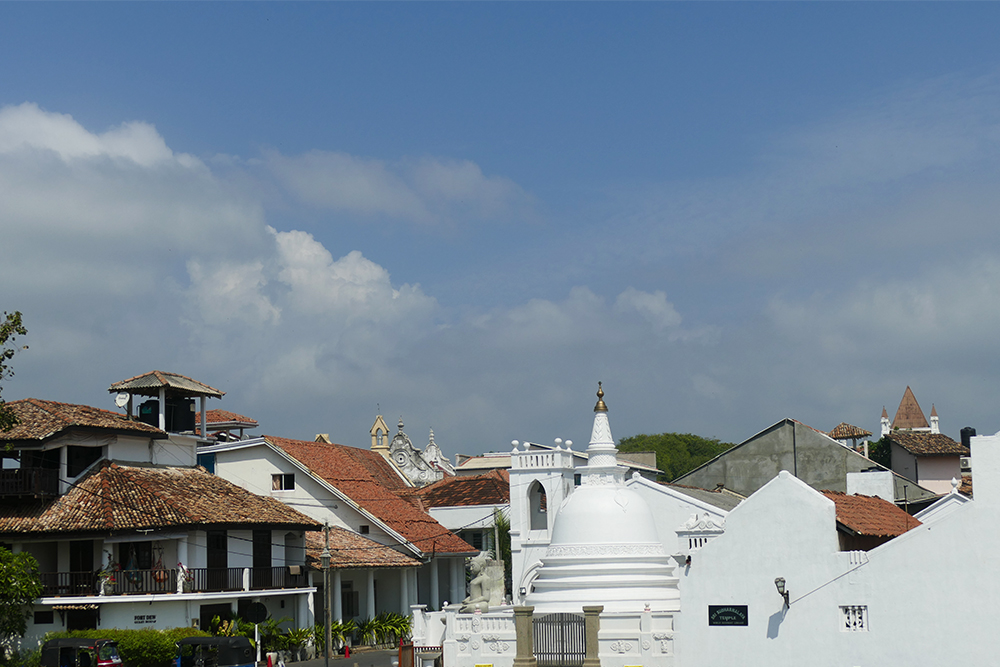 The Buddhist Temple Sri Sudharmalaya in Galle Fort Sri Lanka