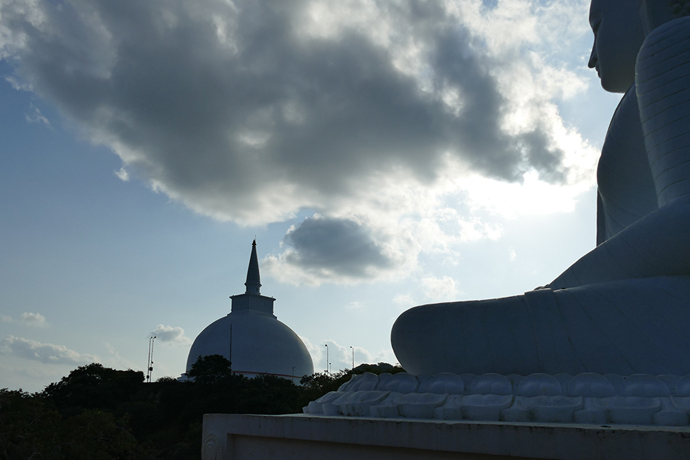 View of the Maha Stupa in Mihintale on a day trip from Anuradhapura