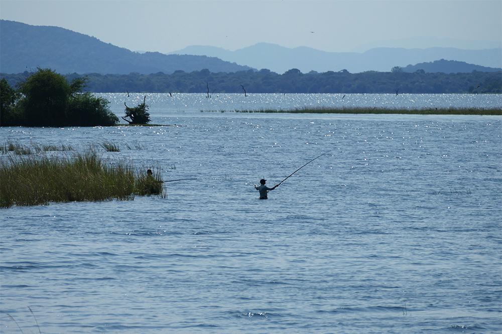 lake Parakrama Samudra in Polonnaruwa Sri Lanka