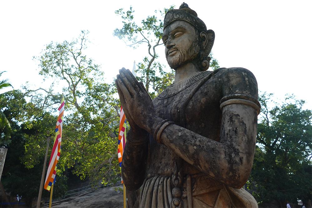 Statue of His Majesty, King Devanampiyatissa. at Mihintale Sri Lanka