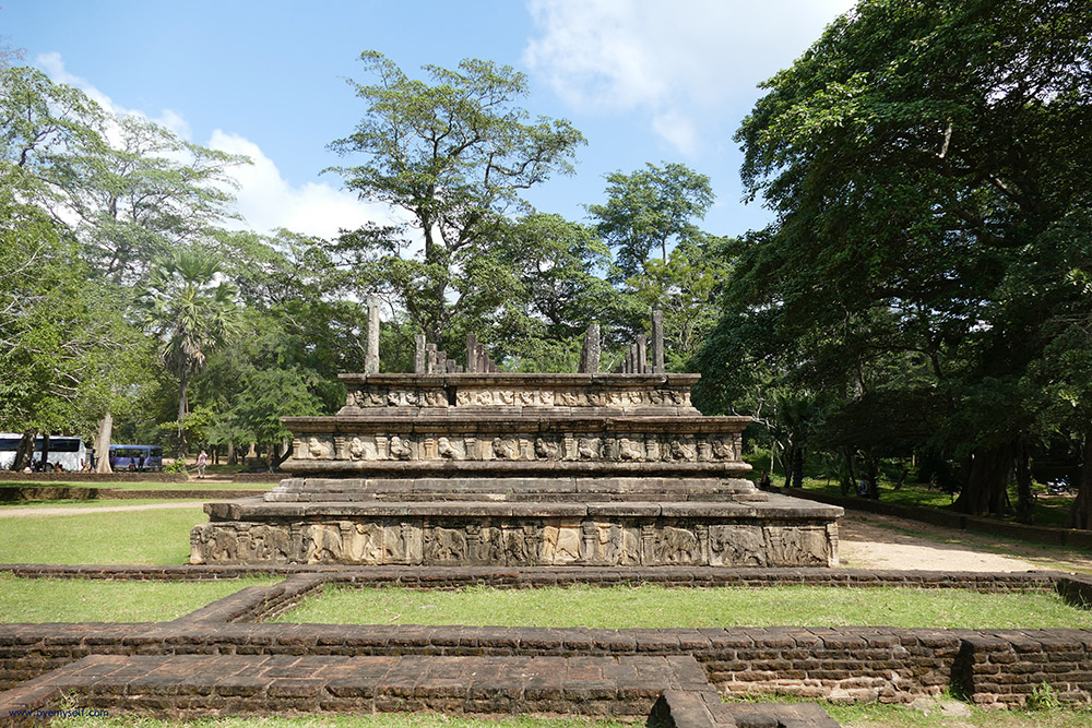 The Council Chamber of King Parakramabahu in Polonnaruwa