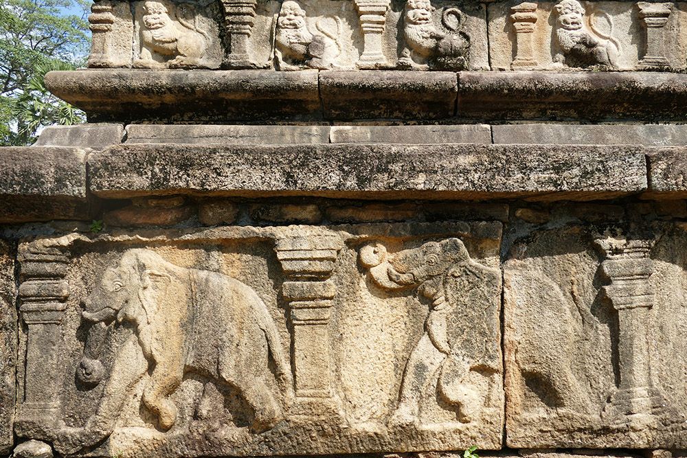 Elephant Carvings in Polonnaruwa Sri Lanka