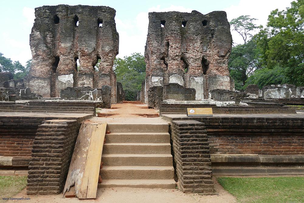 Palace's Remnants Polonnaruwa Sri Lanka