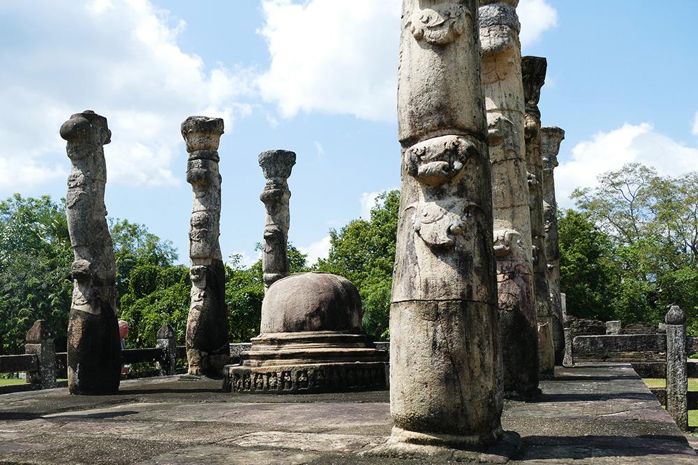 The Mandapa. Polonnaruwa Sri Lanka