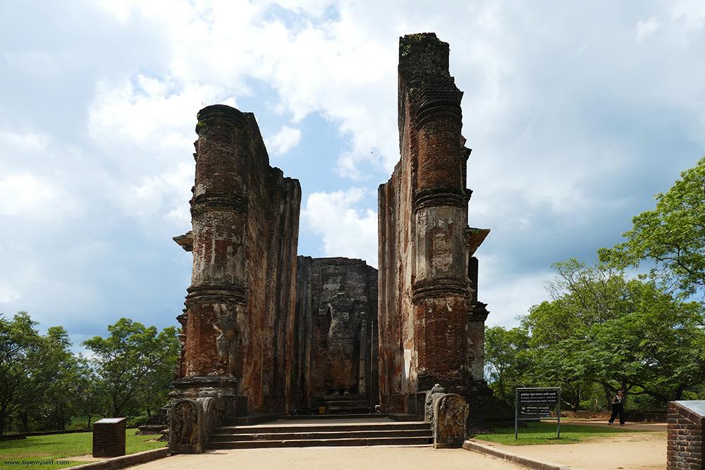 The impressive Image House in Polonnaruwa Sri Lanka