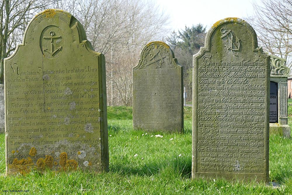 Talking Gravestones at Saint Laurentii Church at Süderende