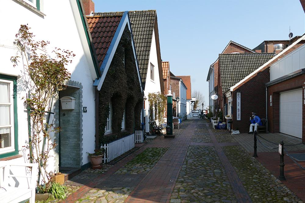 Alleys in Wyk, capital of the Island of Föhr