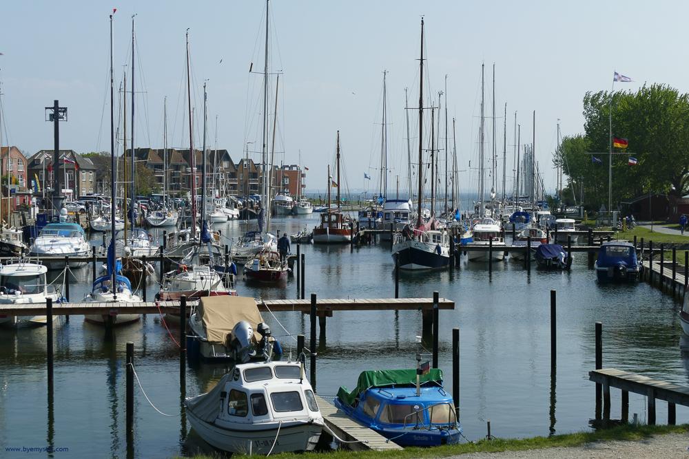 Yacht harbor at Orth on Fehmarn