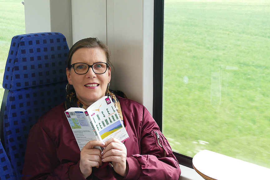 Renata Green on the train to Fehmarn