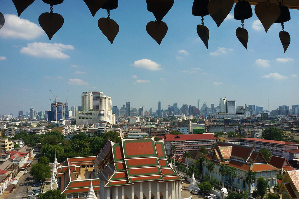 Panoramic View of Bangkok from the Golden Mount