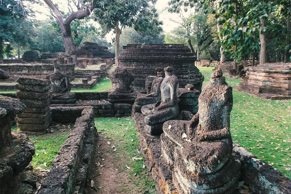 Archeological Park at the center of Kamphaeng Phet, Thailand