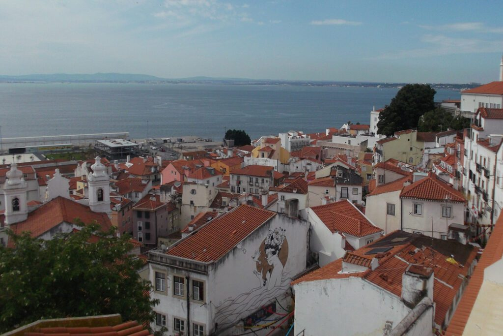 The view from the Largo do Sao Vicente is unmissable when for 24 hours in Lisbon.