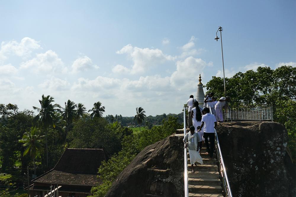 Climbing Isurumuniya in Anuradhapura Mihintale Sri Lanka