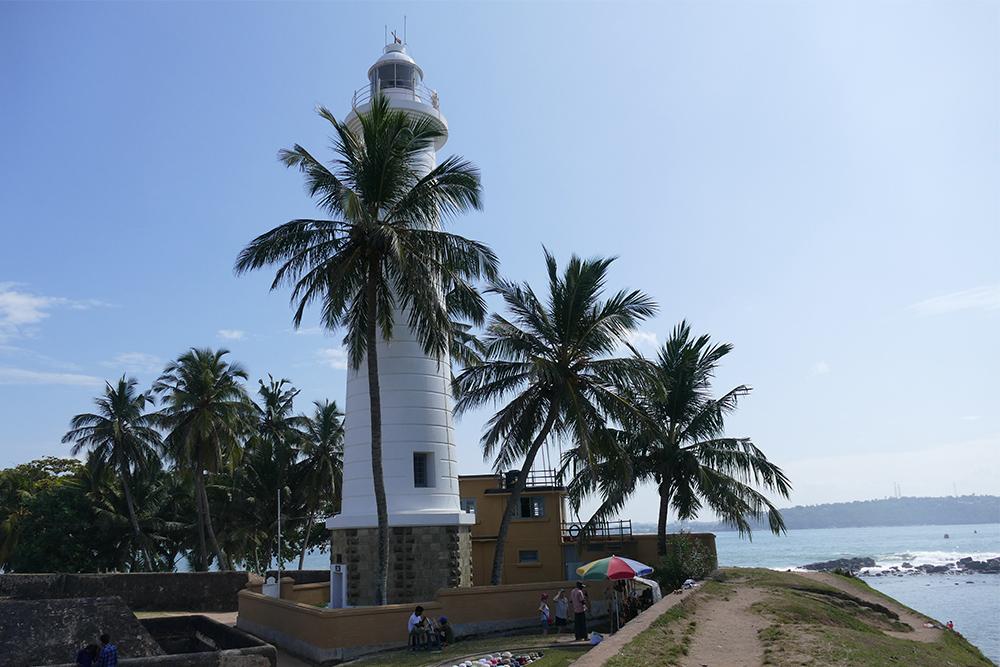 The lighthouse in  Galle Fort Sri Lanka