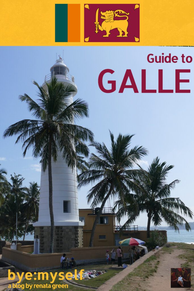 Pinnable Picture for the post on the Galle Fort Sri Lanka