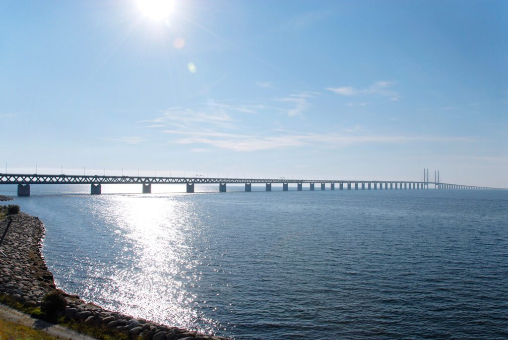Öresund bridge between Malmö in Sweden and Copenhagen in Denmark.