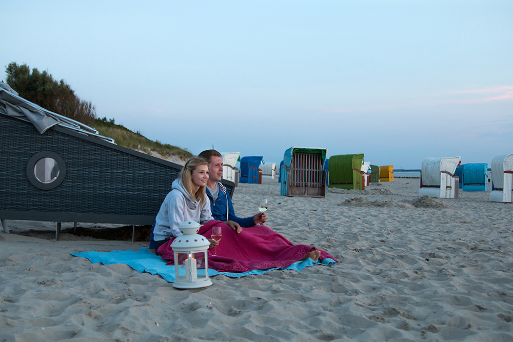 Couple camping on the Island of Föhr