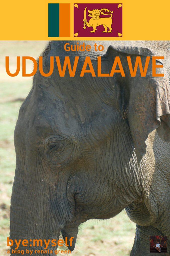 Pinnable PIcture for the post on Udawalawe Elephant Safari Sri Lanka