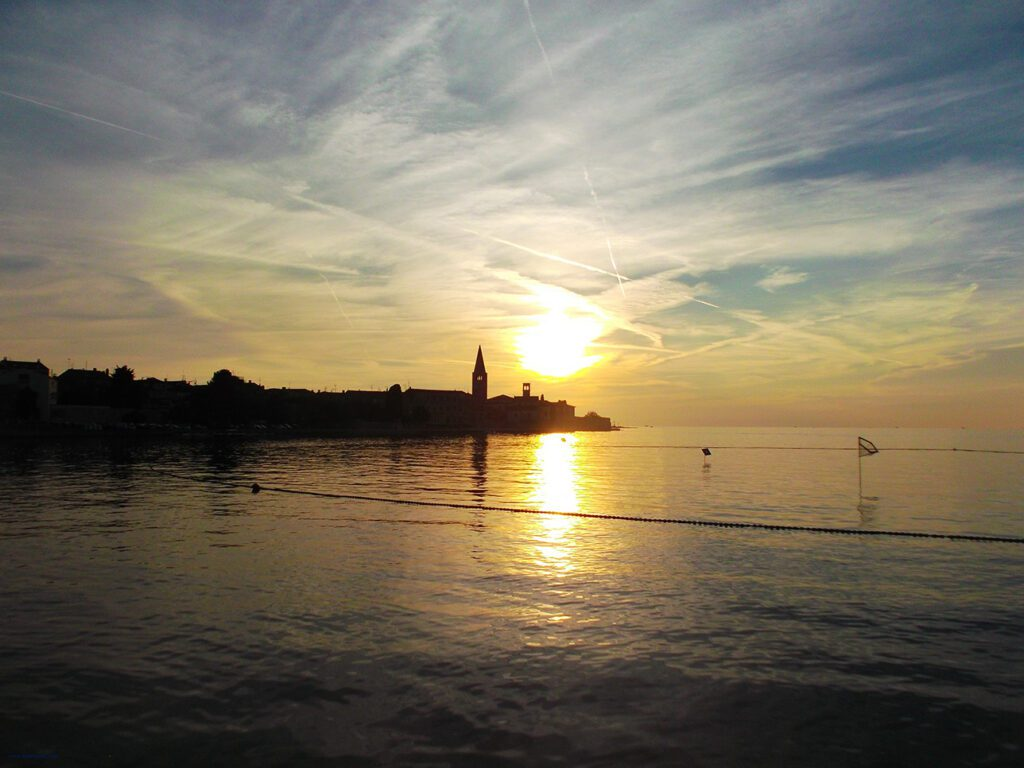 First stop on the Bus Road Trip through Croatia - view of Porec - Istria